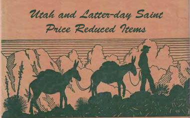 Utah and Latter-day Saint Price Reduced Catalogue