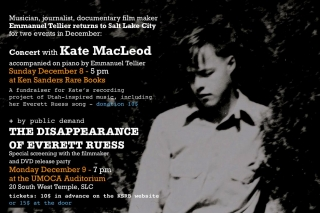 "Screening of ""La disparition d' Everett Ruess"" (The Disappearance of Everett Ruess)"