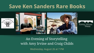 An Evening of Storytelling with Amy Irvine and Craig Childs