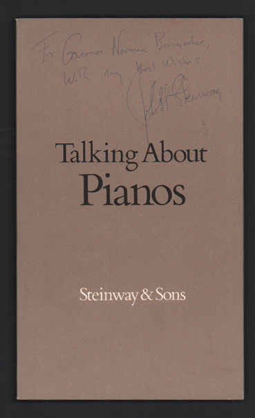Talking About Pianos. Corby Kummer, John H. Steinway.
