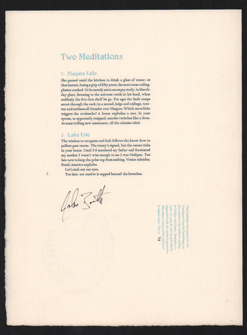 Two Meditations. John Barth.