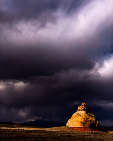 Photo. Storm Clouds at Church Rock, San Juan County. Nilauro Markus.