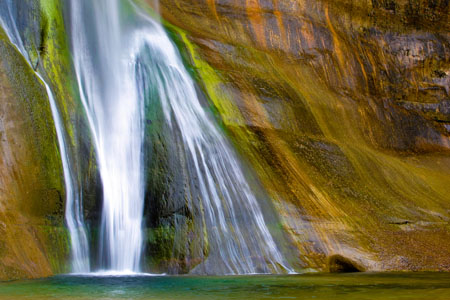 Photo. Lower Calf Creek Falls, Escalante Grand Staircase National Monument. Nilauro Markus.