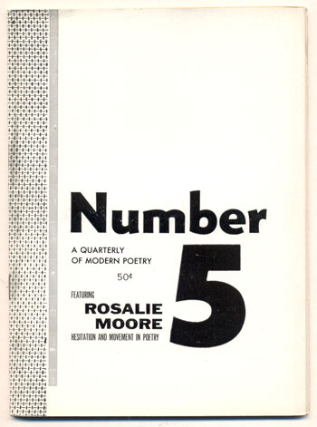 Number Magazine, A Quarterly of Modern Poetry, Volume 1, Number 5, November 1954. Robert Brotherson.
