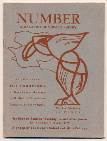 Number Magazine, A Quarterly of Modern Poetry. Volume 1, Number 3, Autumn 1950. Don Wobber.