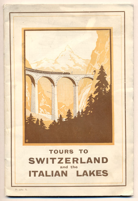 Programme of Tours to Switzerland and the Italian Lakes Season 1925. Under the Management of Thos. Cook & Son, Ltd.