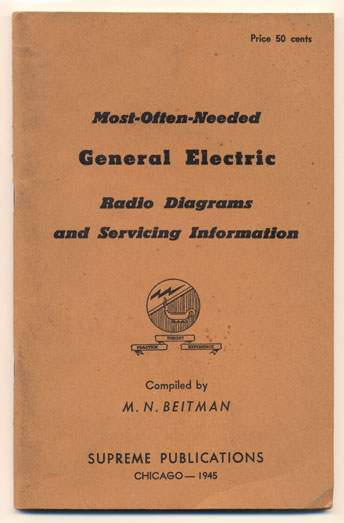 Most-Often-Needed General Electric Radio Diagrams and Servicing Information. M. N. Beitman.