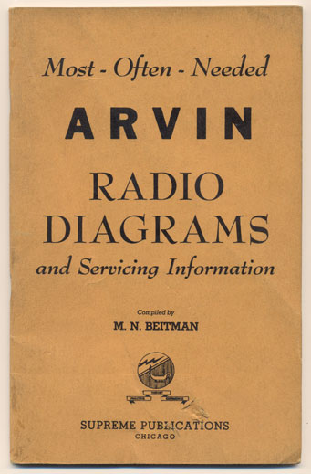 Most-Often-Needed Arvin Radio Diagrams and Servicing Information. M. N. Beitman.