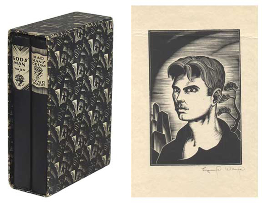Gods' Man and Mad Man's Drum (two volume set with signed self-portrait). Lynd Ward.