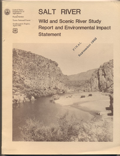 Salt River Wild and Scenic River Study Gila County Arizona Environmental Impact and Study Report