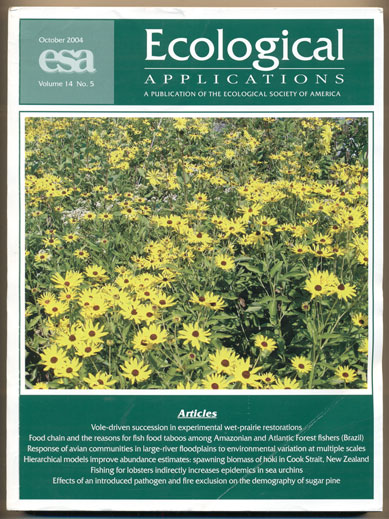 Ecological Applications Volume 14, Number 5, October 2004. David S. Schimel.