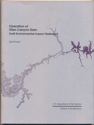 Operation of Glen Canyon Dam Draft Environmental Statement- Summary (U.S. Department of the Interior Bureau of Reclamation)
