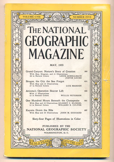 The National Geographic Magazine Volume 107 (CVII), Number 5, May 1955 (Grand Canyon)