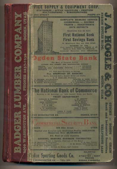 Polk's Ogden City Directory 1930, Volume XXXIII (Including All the Suburban Towns and Villages)