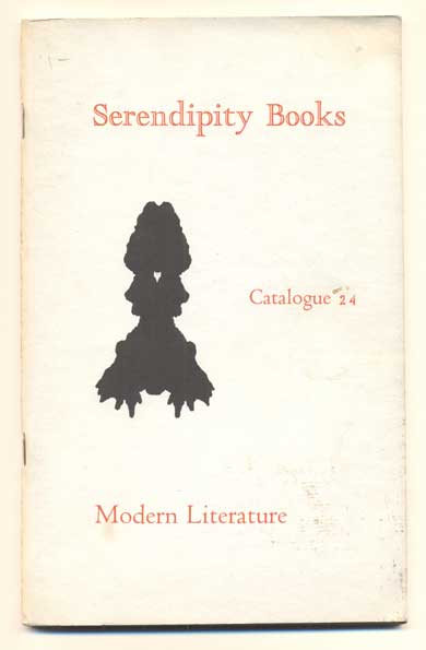 Serendipity Books Catalogue 24: Modern Literature. Peter B. Howard.