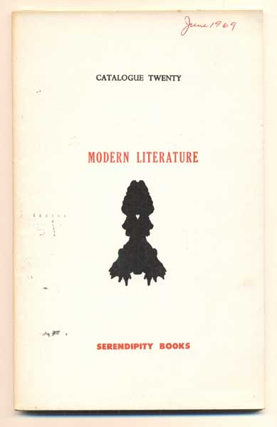 Serendipity Books Catalogue Twenty: Modern Literature. Peter B. Howard.