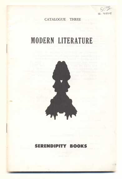 Serendipity Books Catalogue Three: Modern Literature. Peter B. Howard.