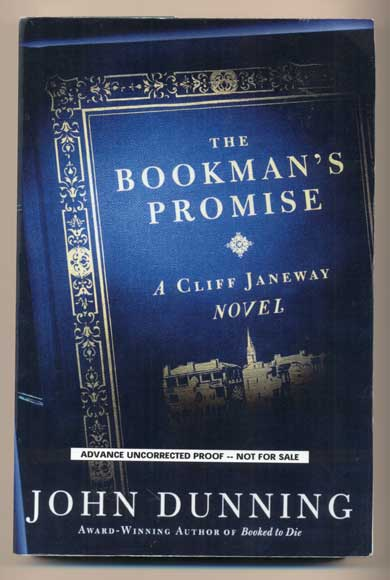The Bookman's Promise: A Cliff Janeway Novel. John Dunning.