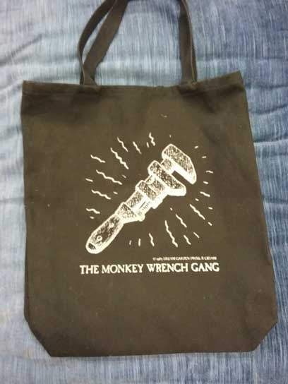 The Monkey Wrench Gang Tote Bag- The Wrench. Edward Abbey/R. Crumb.