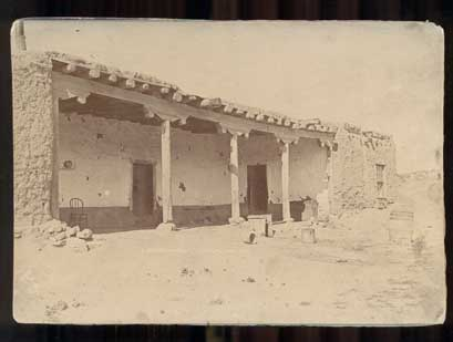 Mexican Home, Santa Fe, New Mexico. Cabinet Card, Brown Bothers.