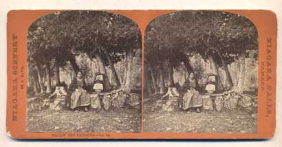 Squaw and Papoose. No. 94. Stereoview, S. Davis.