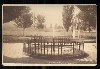 View from the Humboldt House. C. P. R. R. Humboldt, California. Cabinet Card, C. R. Savage, Charles Roscoe.