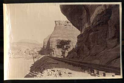 The Half Tunnel, Canon of Grand River. R.G.W. RY. (Rio Grand Western Railway). Photograph, C. R. Savage, Charles Roscoe.