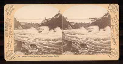 """Niagara """"Maid of the Mist"""" in the Whirlpool Rapids. 657. [New York]. Stereoview."""