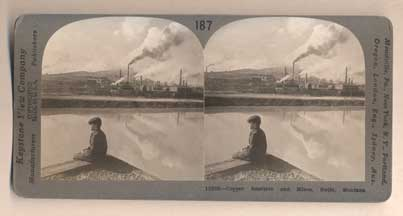 Copper Smelters and Mines, Butte, Montana. 187-(13638). Stereoview.