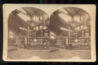 Main Bldg Nave (592), International Exhibition, 1876. Stereoview, William Notman, President.