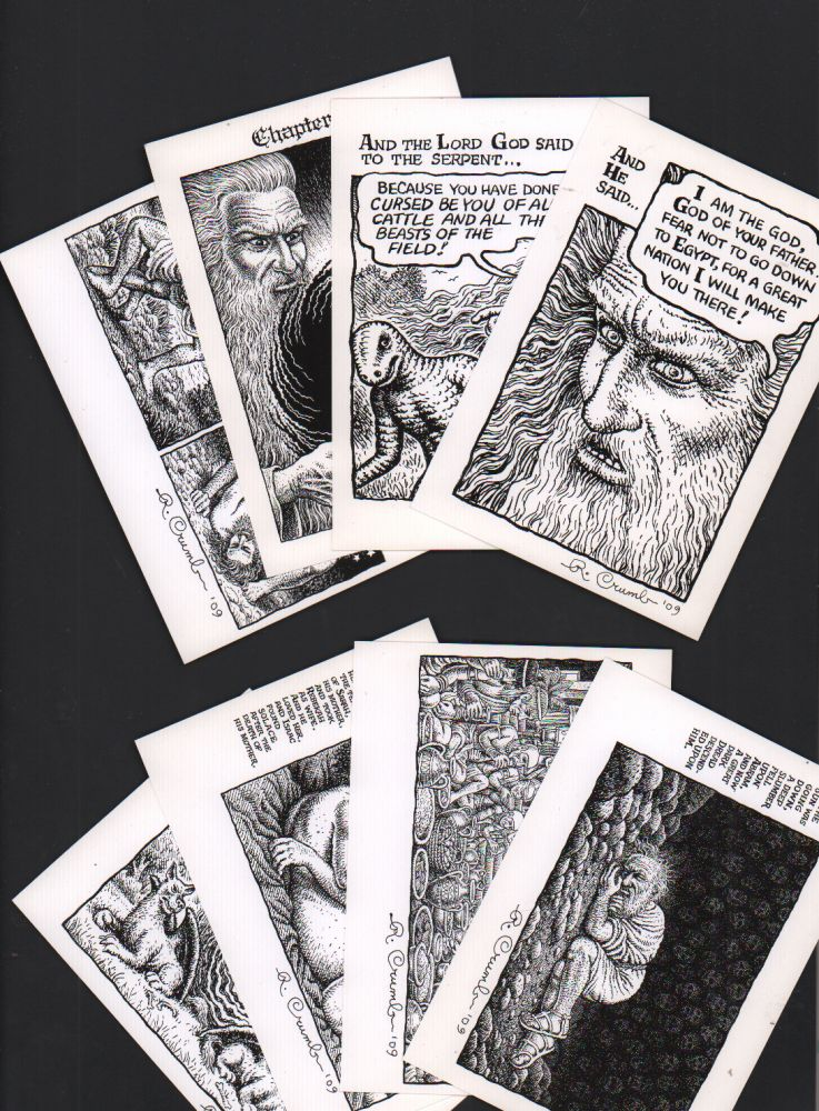 [Set of 8 Book of Genesis postcards]. R. Crumb.