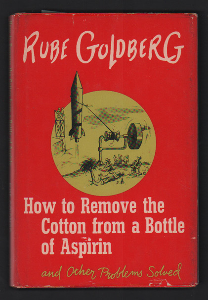 How to Remove the Cotton from a Bottle of Aspirin. Rube Goldberg.