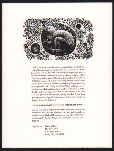 [Prospectus for Lynd Ward's Last Unfinished Wordless Novel]. Lynd Ward.