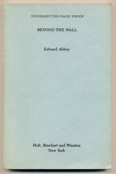 Beyond the Wall. Edward Abbey.