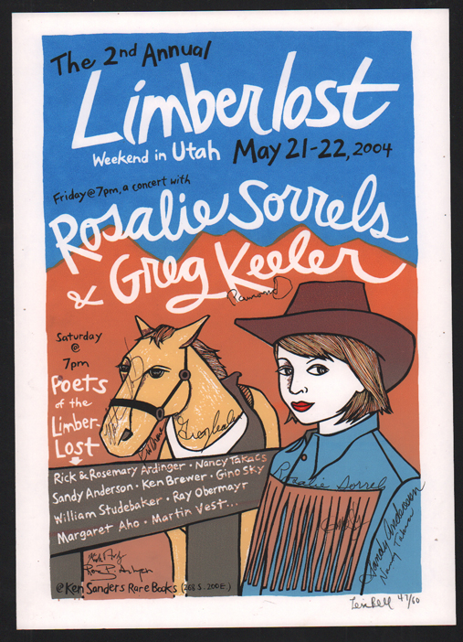 Signed, Limited Edition Limberlost Poster by Artist Leia Bell. Leia Bell.