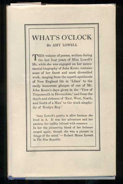 What's O'Clock. Amy Lowell.