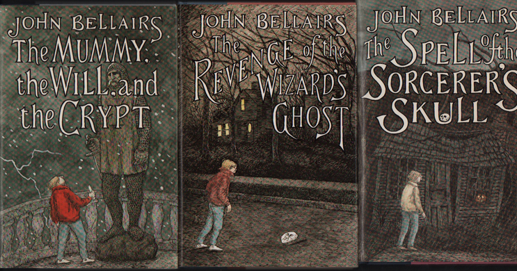 The Mummy, The Will, and The Crypt; The Spell of the Sorcerer's Skull; The Revenge of the Wizard's Ghost (Three novels in the Johnny Dixon series, all signed). John Bellairs, Edward Gorey.