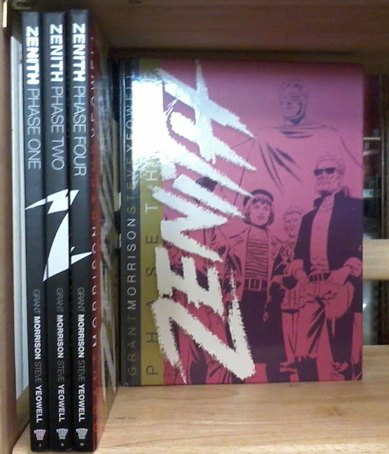 Zenith, Phase One; Phase Two; Phase Three; Phase Four (4 volumes). Grant Morrison, Steve Yeowell, Art.