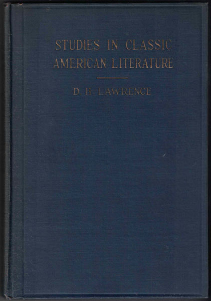 Studies in Classic American Literature. D. H. Lawrence.