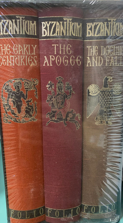 Byzantium: The Early Centuries, The Apogee and The Decline and Fall (3 volumes). John Julius Norwich.