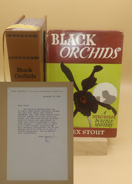 Black Orchids: A Nero Wolfe Double Mystery (with TLS). Rex Stout.