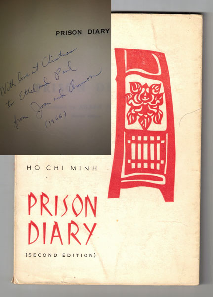 Prison Diary (Second edition) - Inscribed by Ammon and Joan Hennacy. Ho Chi Minh, Aileen Palmer.