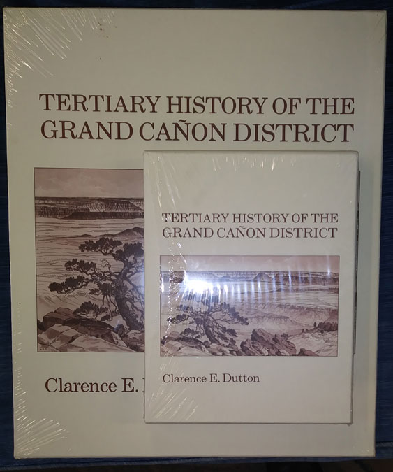 Tertiary History of the Grand Canon with Atlas to Accompany the Monograph on the Tertiary History of the Grand Canon District (two volume set). Clarence Edward Dutton.