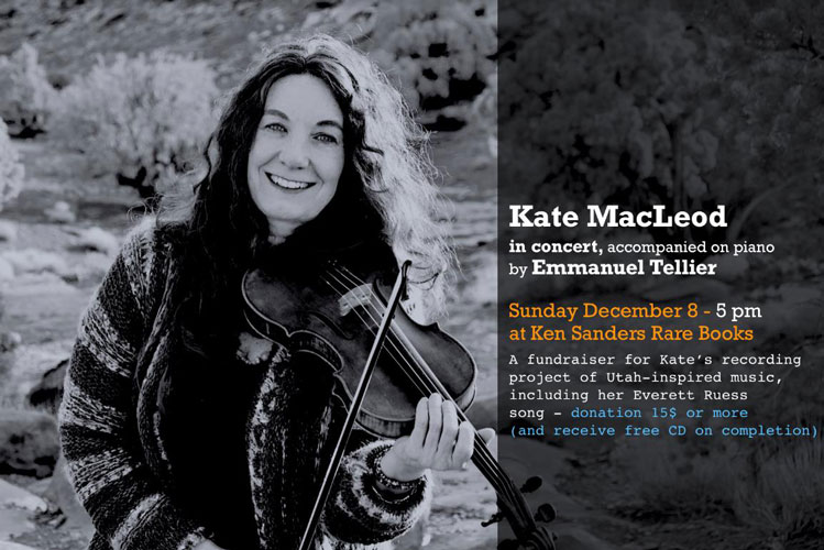 Kate MacLeod in Concert, accompanied on piano by Emmanuel Tellier. Kate MacLeod, Emmanuel Tellier.