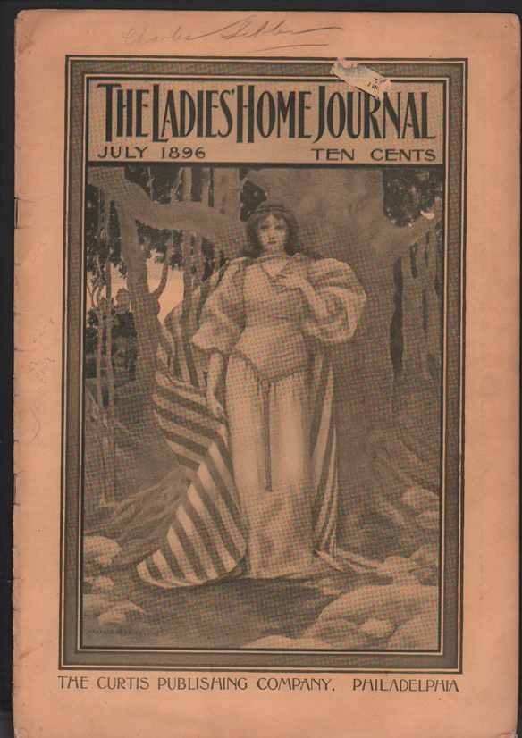 The Ladies' Home Journal Volume XIII, No. 8, July, 1896. Maxfield Parrish.