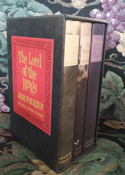 The Lord of the Rings: The Fellowship of the Ring; The Two Towers; The Return of the King (3 volumes). J. R. R. Tolkien.