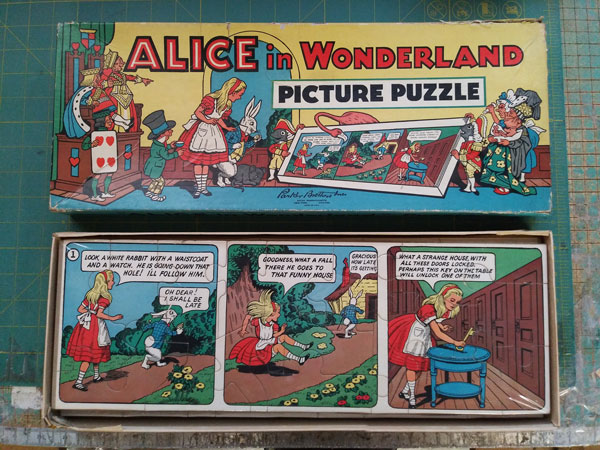 Alice in Wonderland Picture Puzzle. Puzzle, Game, Lewis Carroll.