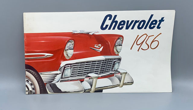Chevrolet 1956 (Catalog). 1956 Guide to your New Chevrolet (Owner's Manual) - Two booklets. Automobiles, Classic Cars, Advertising.