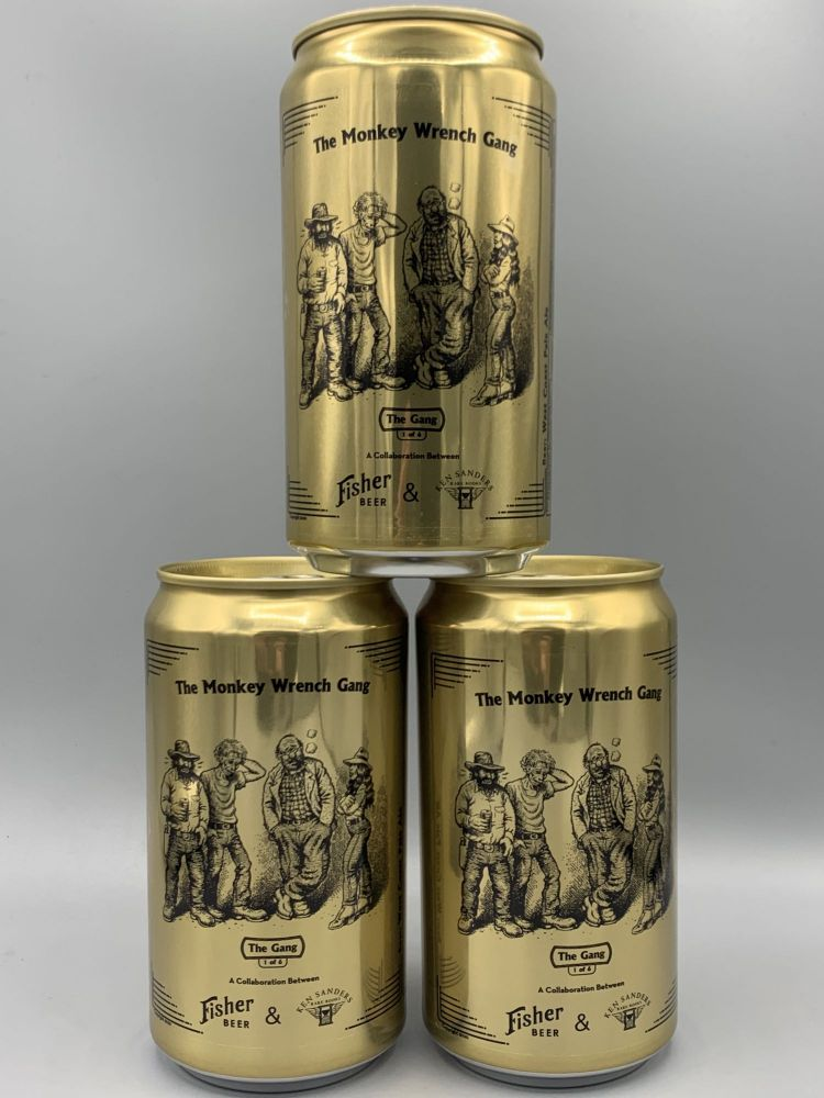 """""""The Gang"""" Commemorative Monkey Wrench Gang Beer Can"""