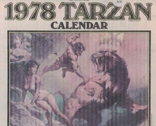 1978 Tarzan Calendar: The Lord of the Jungle Magnificently Portrayed by the Renowned Artist Boris...